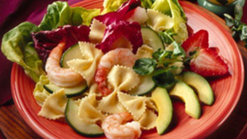 Shrimp Pasta Salad With Fresh Fruit Salsa