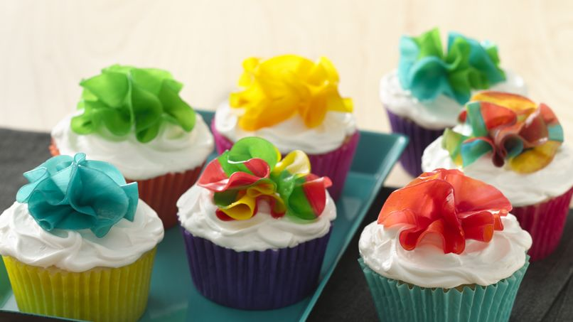 Fruity Flower Cupcakes