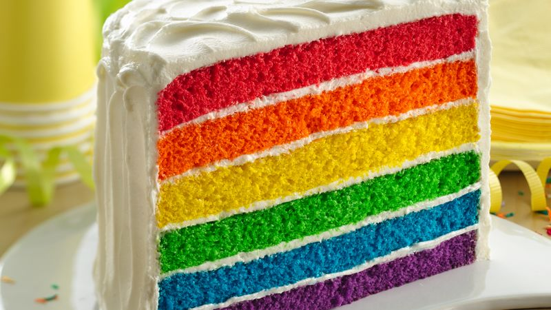 Rainbow Layer Cake Recipe - BettyCrocker.com