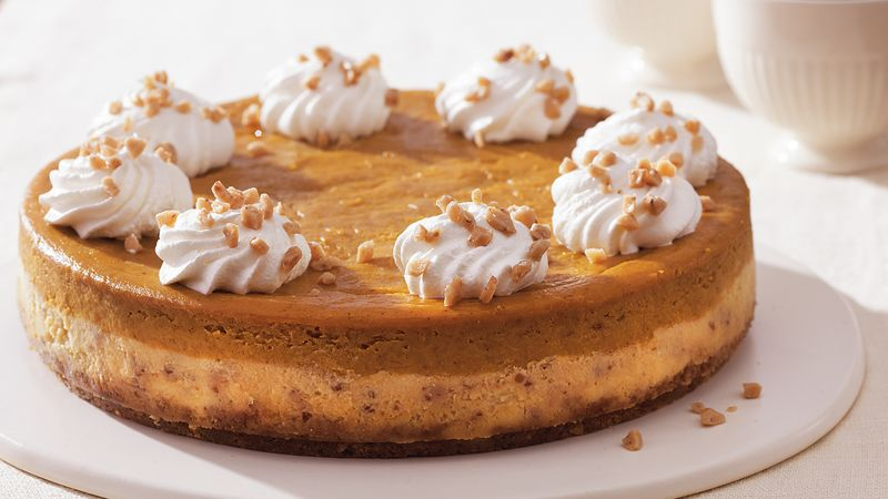 Toffee Pumpkin Cheesecake Recipe Bettycrocker Com