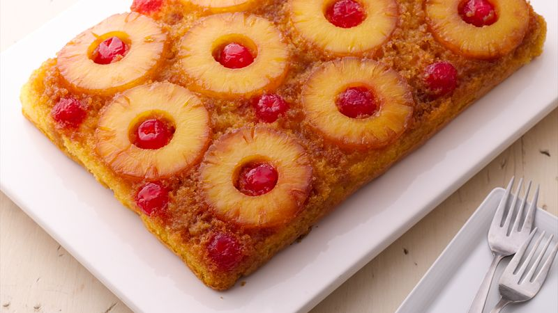 Upside-down pineapple cake recipe