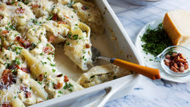 Carbonara Chicken Alfredo Stuffed Shells