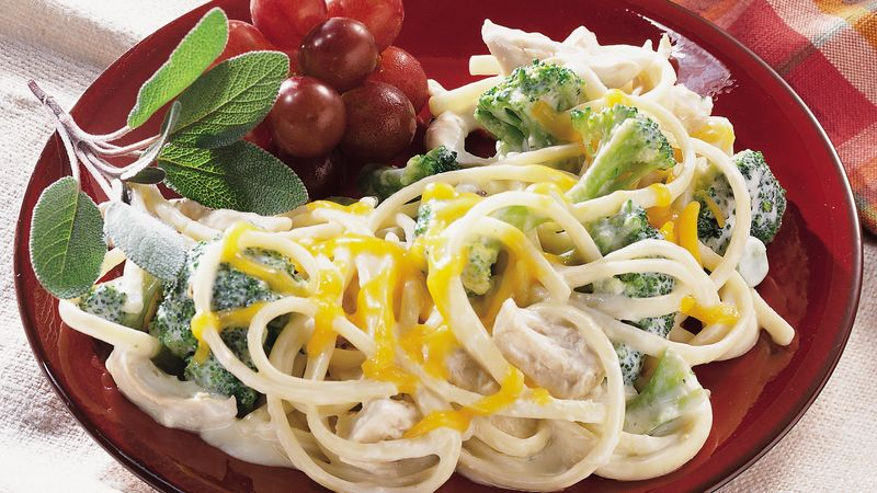 Chicken and Linguine Divan
