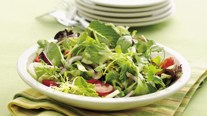Mixed Green Salad With Dijon Vinaigrette Recipe Bettycrocker Com