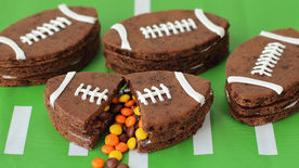 Football Pinata Brownies