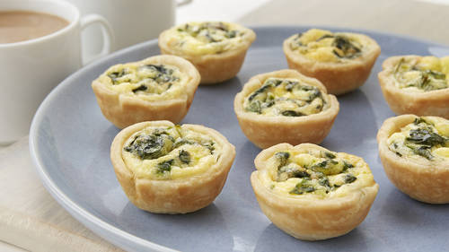 Spinach Mini Quiches Recipe Pillsbury Com