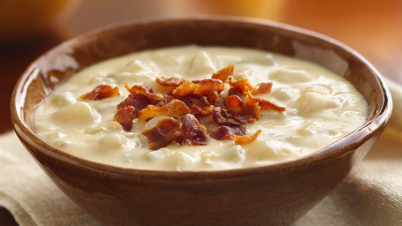 Slow-Cooker Cheesy Bacon Potato Soup