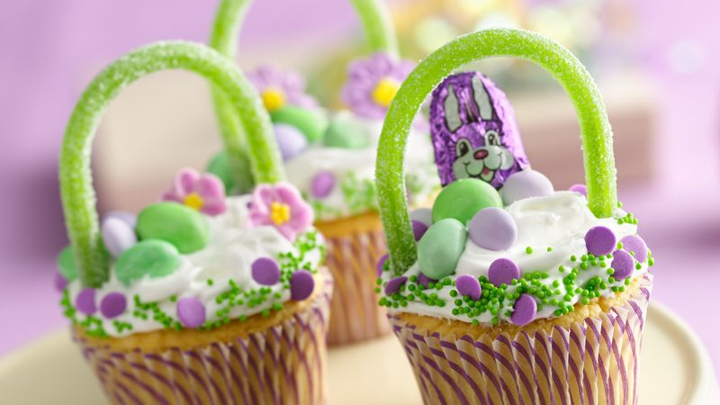 Easter basket cupcakes recipe bettycrocker easter basket cupcakes negle Gallery