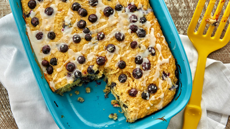 Lemon Blueberry Cake-Mix Baked Oatmeal