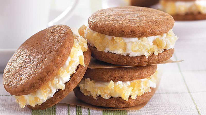Gingersnap Cream Sandwiches