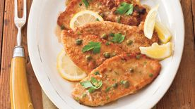 Turkey Cutlets with Lemon-Caper Sauce
