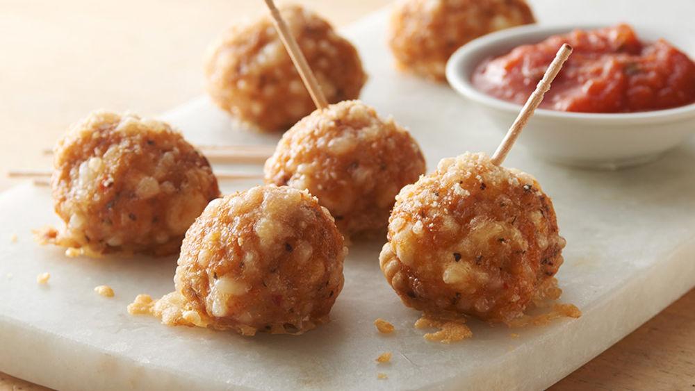 Italian Sausage Crescent Cheese Balls