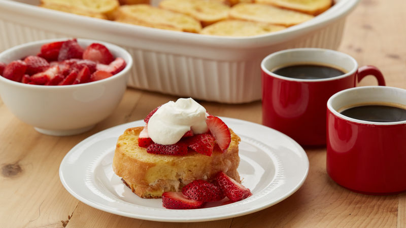 Overnight Strawberry Shortcake French Toast
