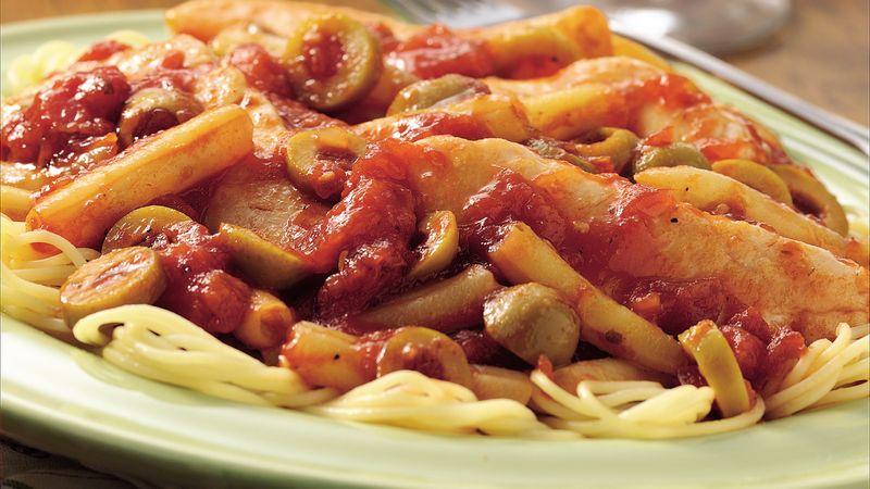 Chicken Puttanesca Sauté