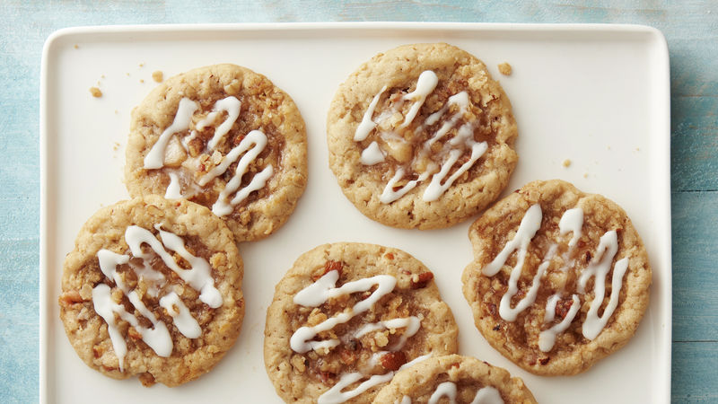 Apple Crisp Thumbprint Cookies