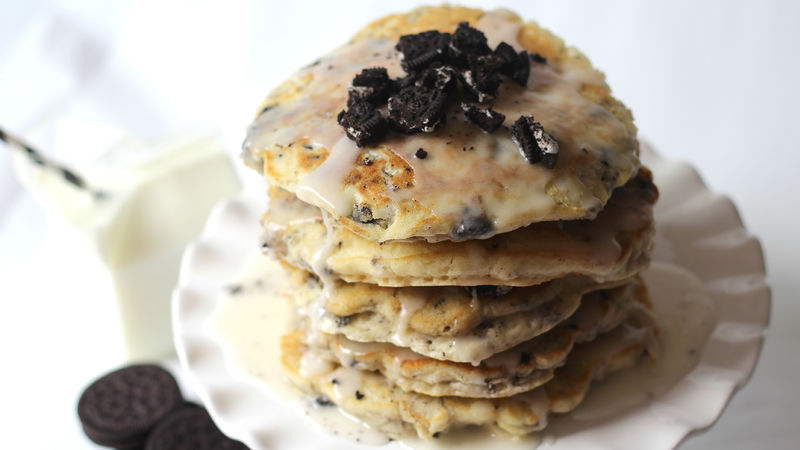 Oreo Cookies And Cream Pancake Cake Recipe Bettycrocker
