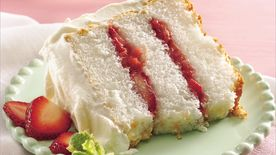 Strawberry-Rhubarb Angel Torte