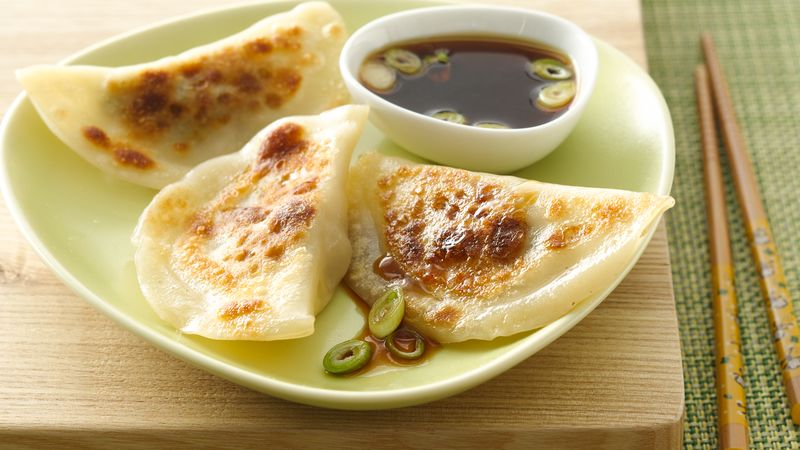 Gyoza with Turkey and Soy Dipping Sauce