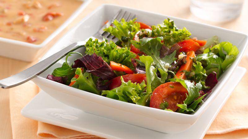 Enchilada Soup with Zesty Lime Vinaigrette Salad