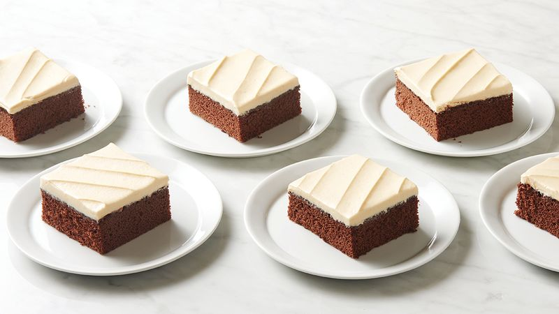 Chocolate Sheet Cake with Salted Caramel Buttercream Frosting