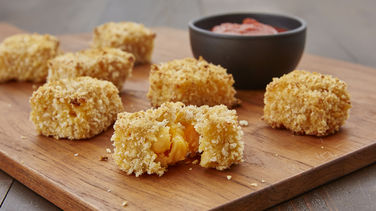 Double Cheddar Mac and Cheese Bites