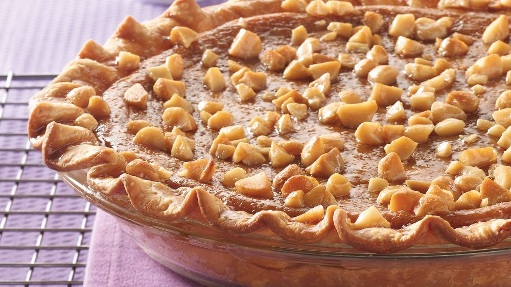 Sweet Potato Pie with Macadamia Praline