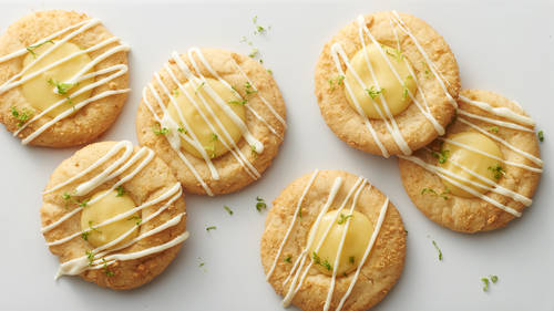 Key Lime Pie Thumbprints