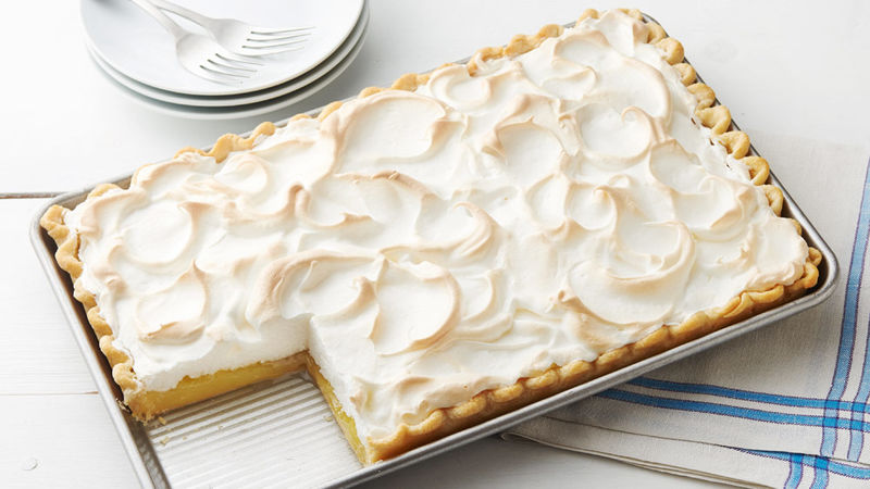 Lemon Meringue Slab Pie