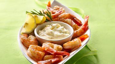 Bayou Shrimp with Lemon-Rosemary Aioli