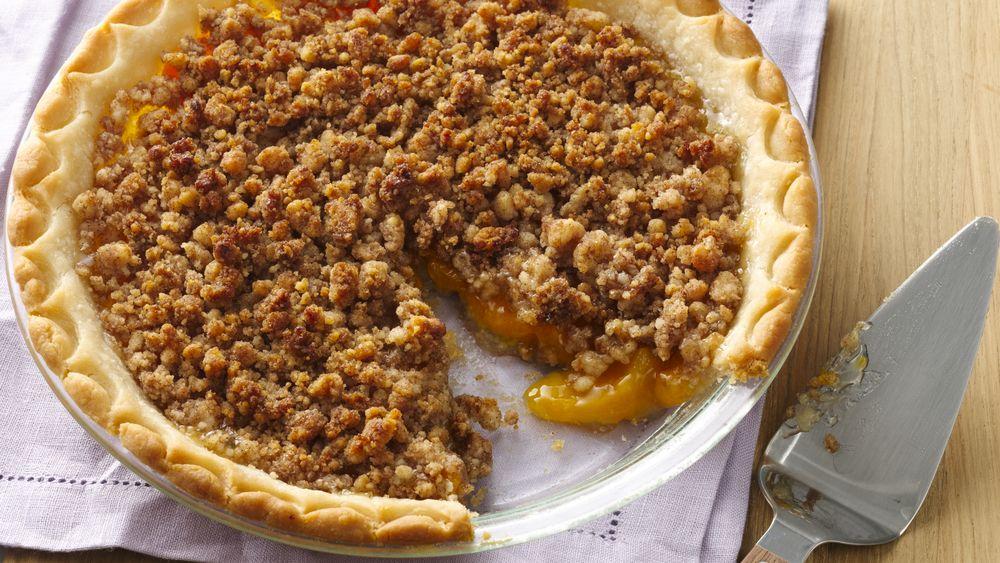 Gluten-Free Peach Crumble Pie
