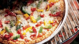 Grilled Peppers and Onions Pizza