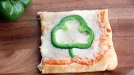 Shamrock Pizza Squares