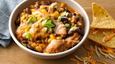 Slow-Cooker Cheesy Chicken Enchilada Chili
