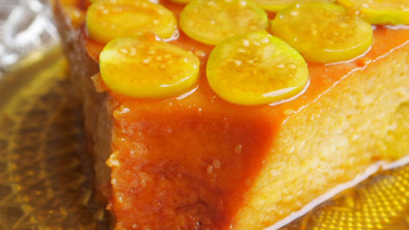 Mango and Aguaymanto Flan