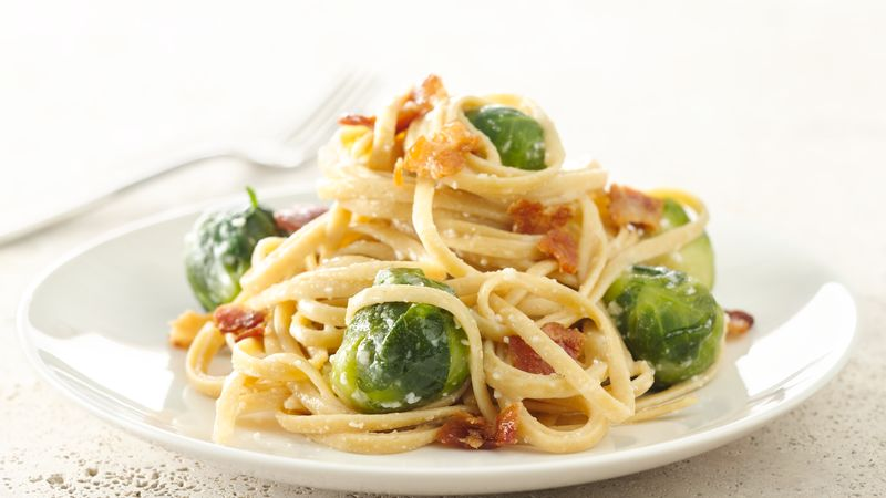 Brussels Sprouts Carbonara Recipe Pillsbury Com