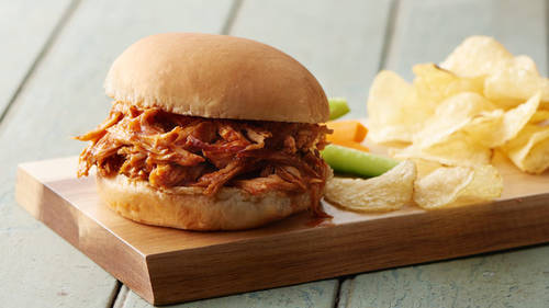 Slow-Cooker Pulled Pork with Root Beer Sauce image