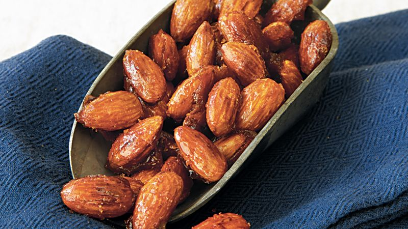 honey glazed almonds recipe bettycrocker com