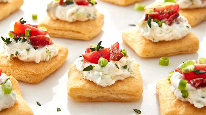 Bacon and Tomato Cream Cheese Tarts
