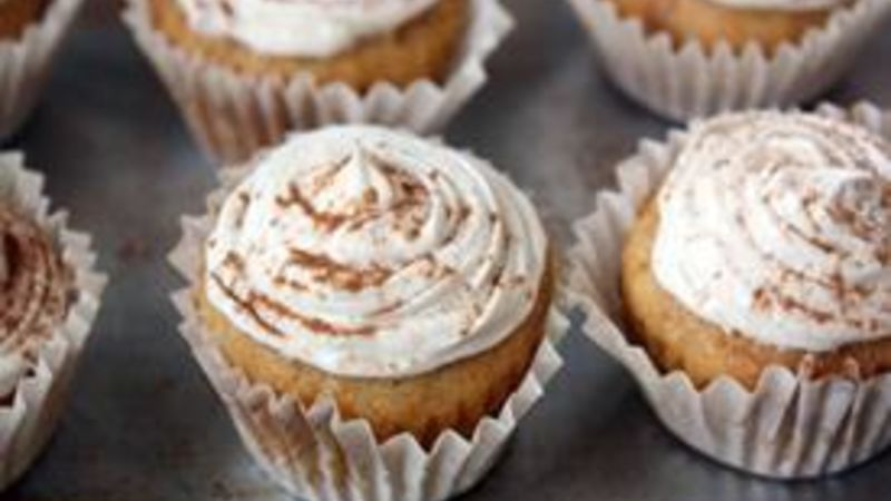Mini Sweet Potato Cupcakes with Brown Sugar-Cream Cheese Frosting