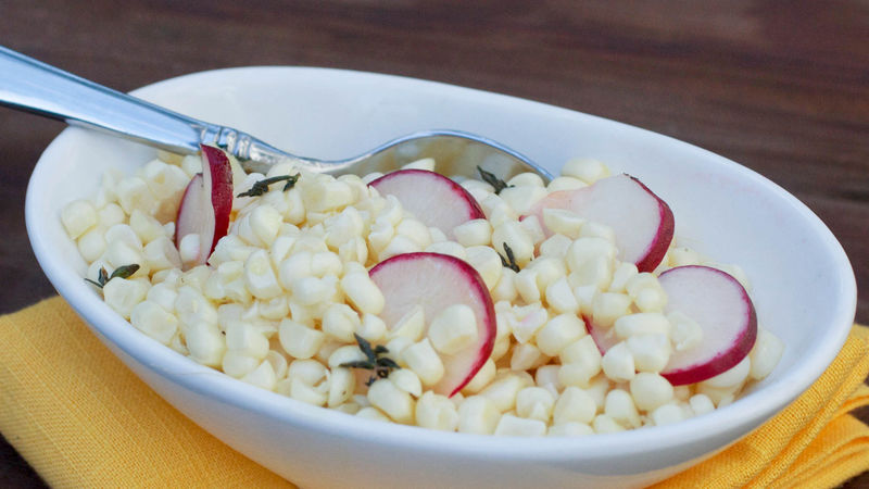 Fresh Corn and Radish Salad