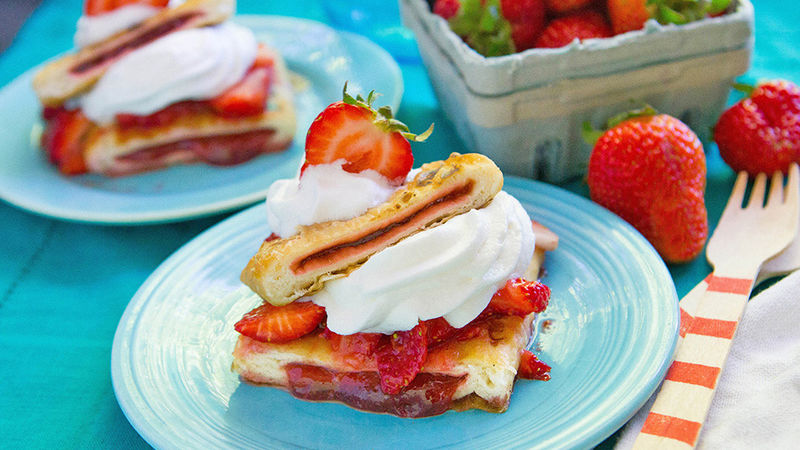 Grilled Toaster Strudel Strawberry Shortcake