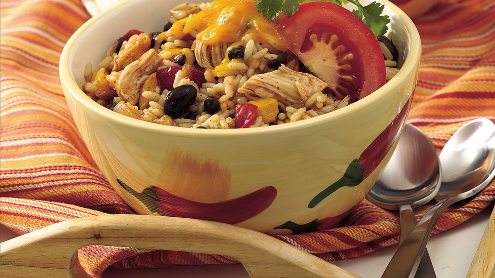 Black Beans, Chicken and Rice