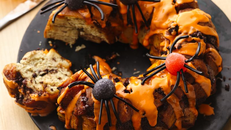 Spider Chocolate Chip Marshmallow Cinnamon Pull-Apart