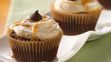 Spiced Chocolate Cupcakes with Caramel Buttercream