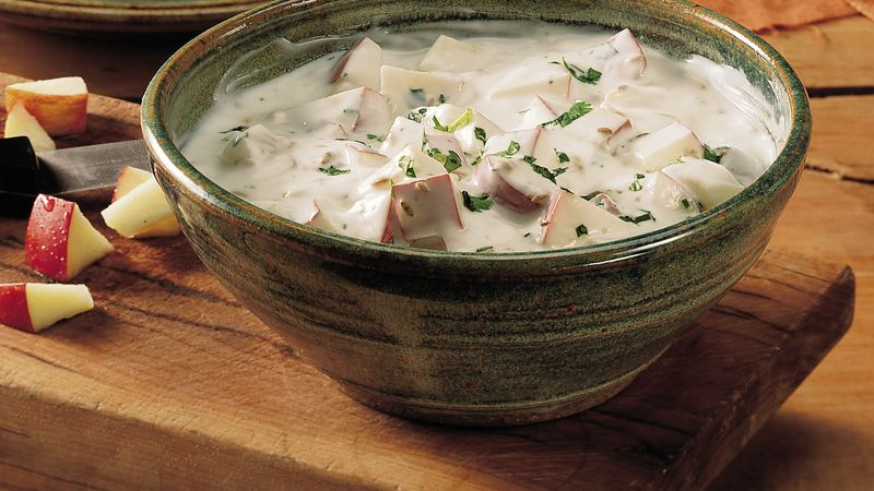 Yogurt with Apples (Sev Raita)