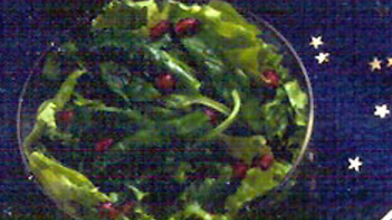 Pomegranate and Greens Salad