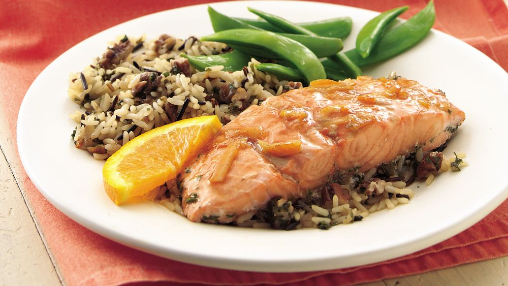Orange Salmon and Rice