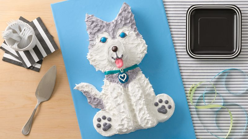 Husky Dog Cake Recipe Bettycrocker Com