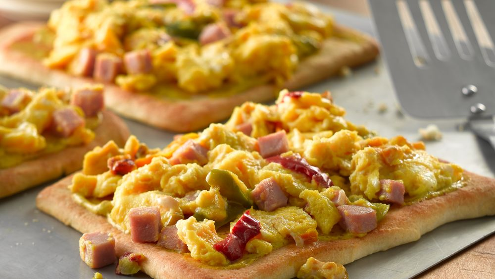 Denver Scrambled Egg Pizza