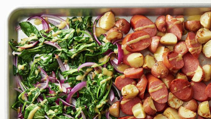 Sheet-Pan Kielbasa and Vegetables